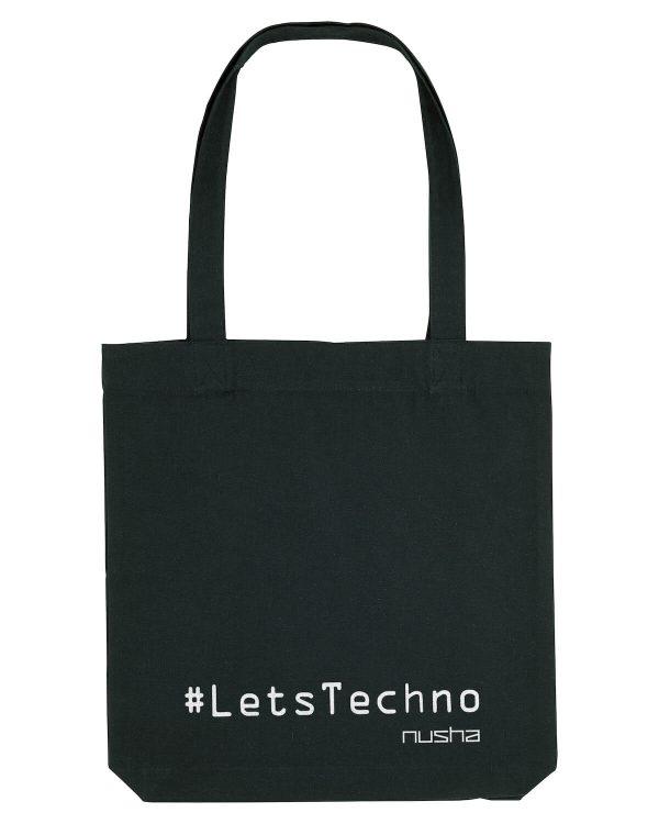 lets techno tote bag