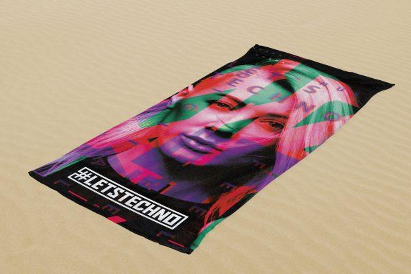 letstechno beach towel