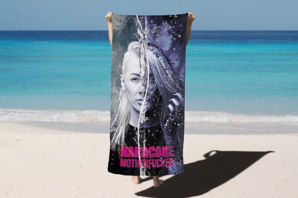 hardcoremotherfucker beach towel