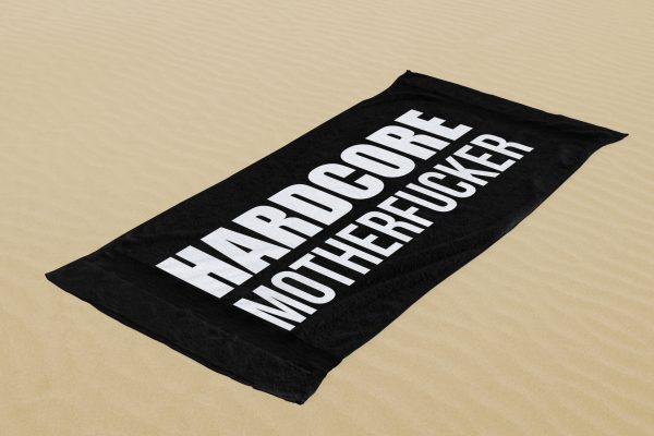 letstechnno beach towel